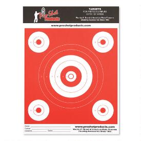 "6"" Bullseye and 4 2"" Bullseyes - Day Glo Orange - Heavy Paper"