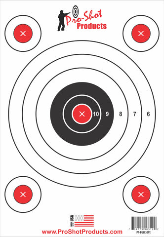 "9"" x 13"" 5 Bullseye Target with Adhesive Backing"