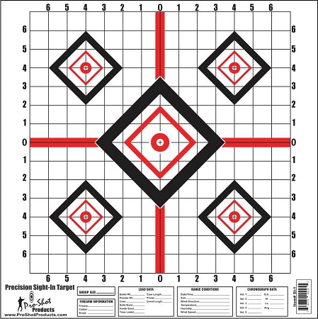 "16 x 16"" Red Diamond Precision Sight In Target"