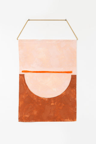 Puente in himalayan salt & rust modern painting