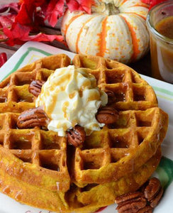 Pumpkin Pecan Waffles Melts