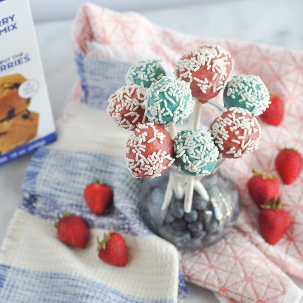 Strawberry Muffin Cake Pops