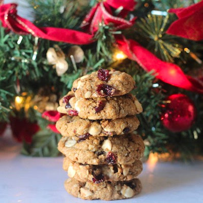 Oatmeal Cranberry White Chocolate Cookies!