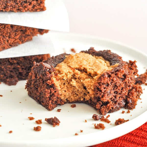 Peanut Butter Cookie Stuffed Brownies!