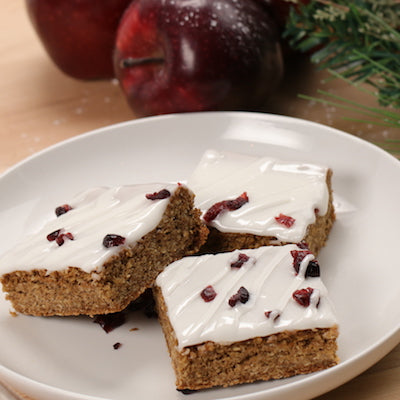 Winter Wonderland Cranberry Oat Bars
