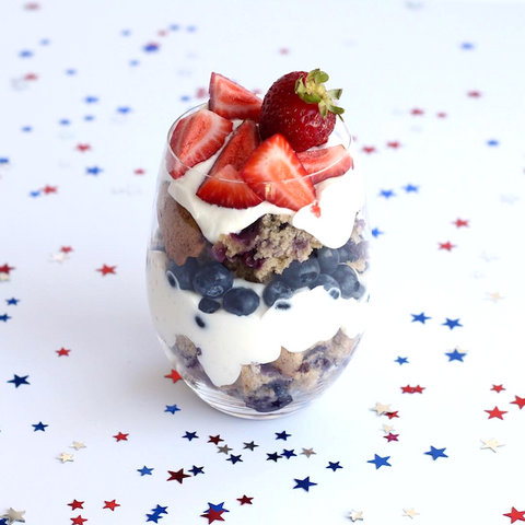 Blueberry Muffin Memorial Day Parfait