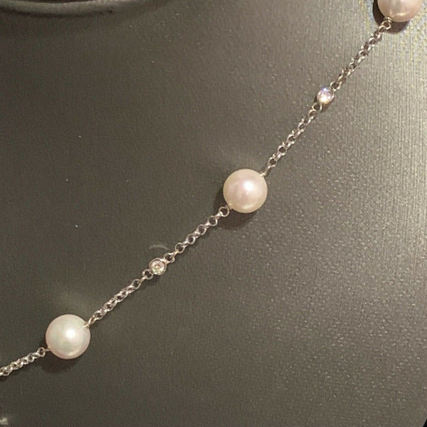 Akoya Pearl Necklace 14k Gold 8 mm 23.25