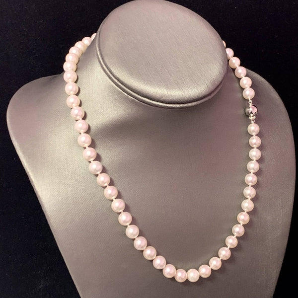 Akoya Pearl Necklace 14k WG 8 mm 18
