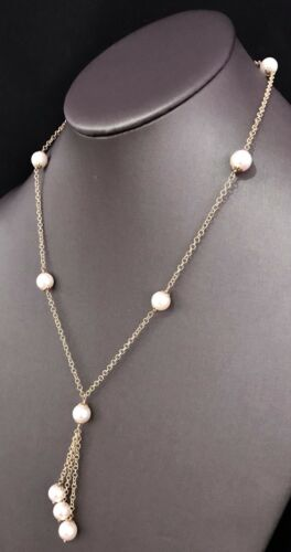 Akoya Pearl Necklace 14k Gold 8.5-8 mm 18