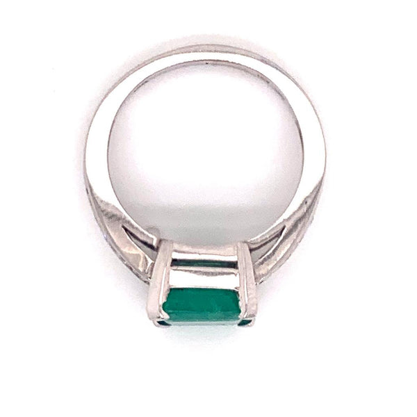 Diamond Emerald Ring 14k Gold 2.55 TCW Women Certified $3,800 912292