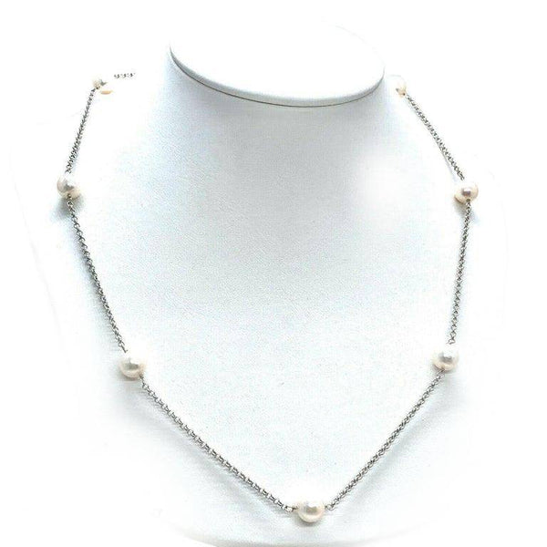 Akoya Pearl Necklace 7.65-7.85 mm 14k Gold 19