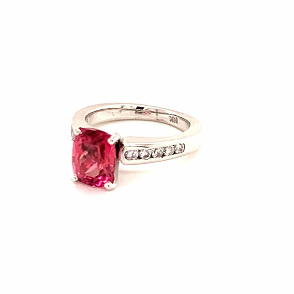 Diamond Rubellite Tourmaline Ring 3 TCW 14k Gold Certified $3,450 912277