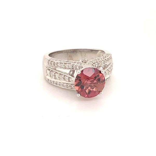 Diamond Rubellite Ring 14k Gold 3.65 Ct Women Certified $4,950 913505