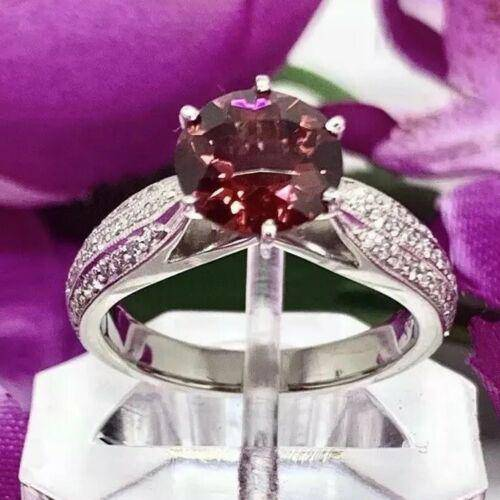 Diamond Platinum Rubellite Ring 2.43 TCW Certified $4,950 911025