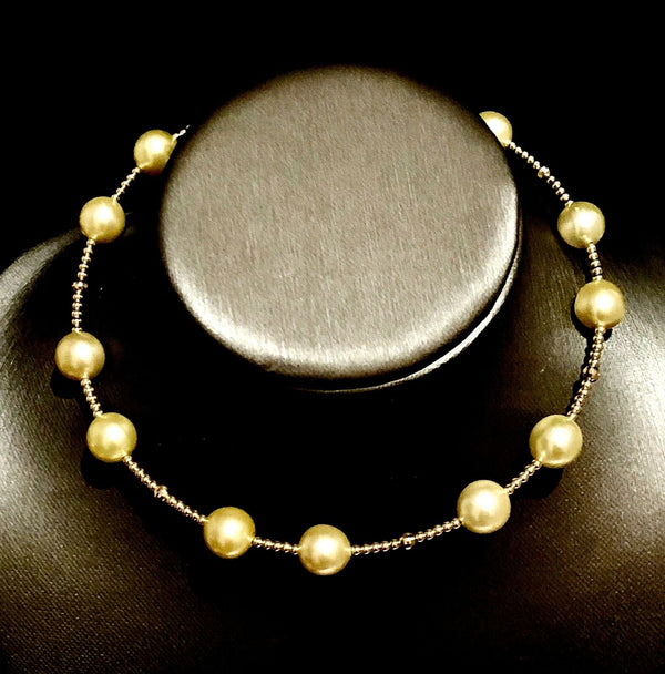 South Sea Pearl Choker Necklace 14k Gold 11.50 mm Italy Certified $3,450 820422