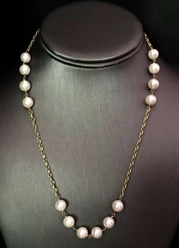 Necklace Akoya Pearl 8.10 mm 18