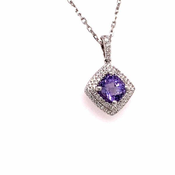 Diamond Sapphire Necklace 2.32 TCW 18k Gold Women Certified $4,950 921152