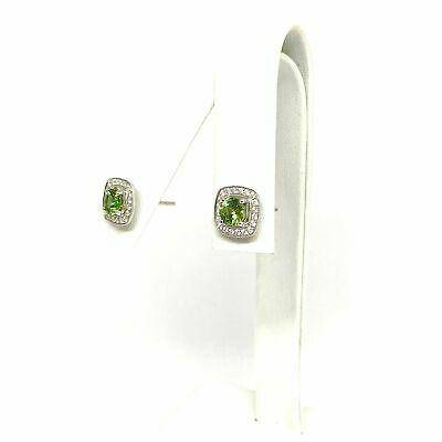 Diamond Sapphire Earrings 18k Gold 1.50 TCW Certified $2,950 921513