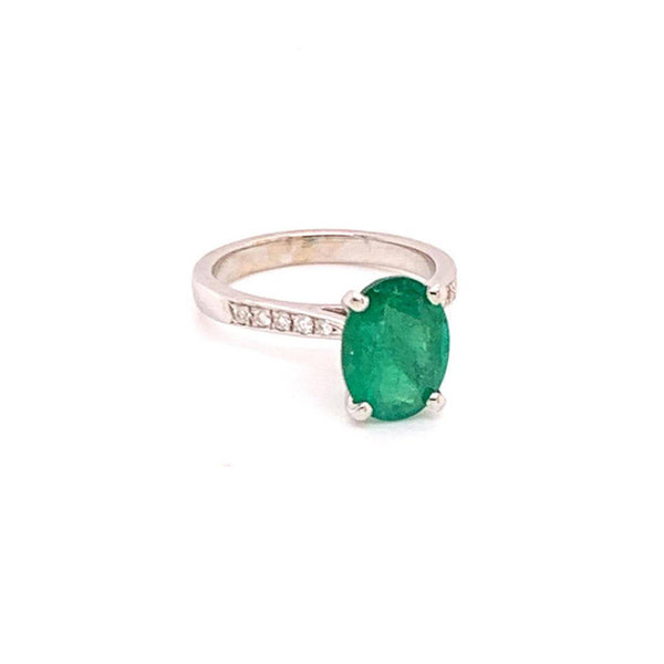Emerald Diamond Ring 14k Gold 1.83 TCW Certified $3,950 920738