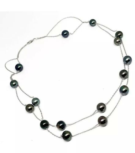 Tahitian Pearl Tincup Necklace 14k Gold 10.12 mm 21