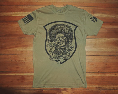 "Short Sleeved ""Psycho Squirrel"" Tee - OD Green"