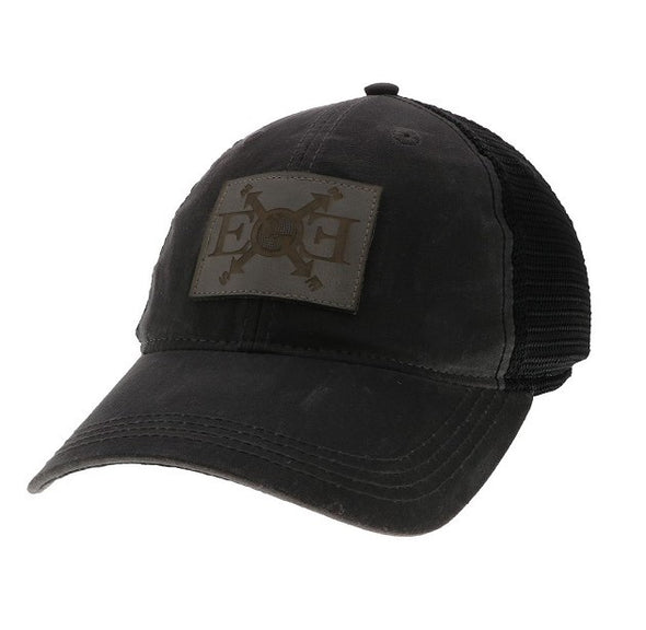 Expedition Essentials Waxed Cotton Hat Charcoal Black