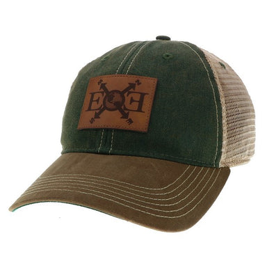 Expedition Essentials Waxed Cotton Hat Green/Brown
