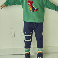 Subscription Boxes for Kids - Adam Chomp Dinosaur Pants (Navy) - Choulala Box