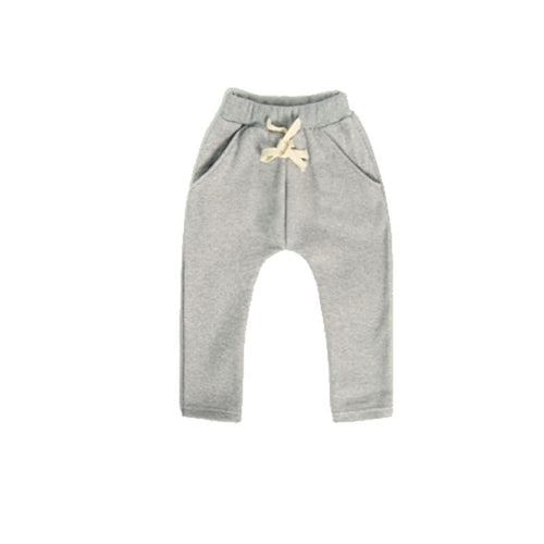 Dusty Grey Harem Bottoms Basics Chou La La Fashion Inc. 2T-3T