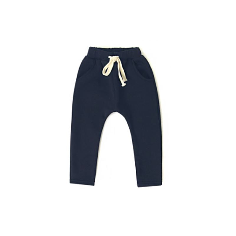 Dusty Navy Blue Harem Bottoms Basics Chou La La Fashion Inc. 2T-3T