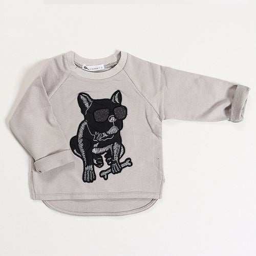 Grey Bull Dog T Basics Chou La La Fashion Inc.