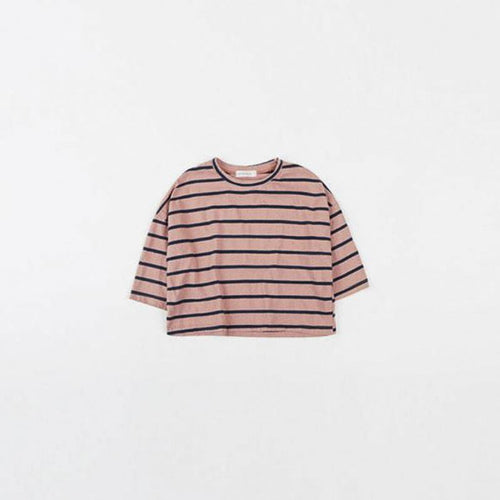 Indira Striped Indie Pink Tee Basics Chou La La Fashion Inc. 2T-3T