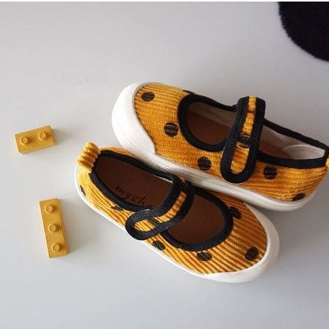 Mustard Popcorn Dot Shoes Basics My Socks