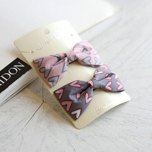 Subscription Boxes for Kids - My Funny Valentine Bows (set of 2) - Choulala Box