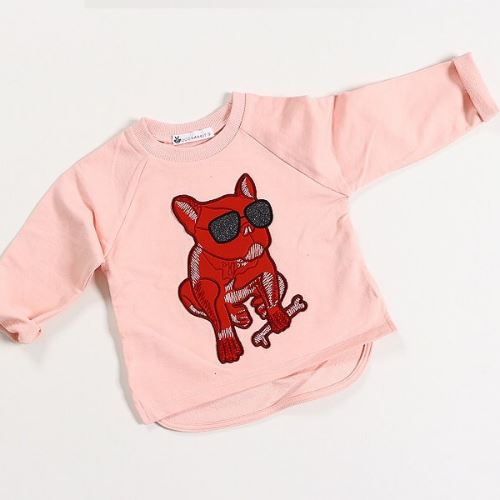 Pink Bull Dog T Basics Chou La La Fashion Inc.