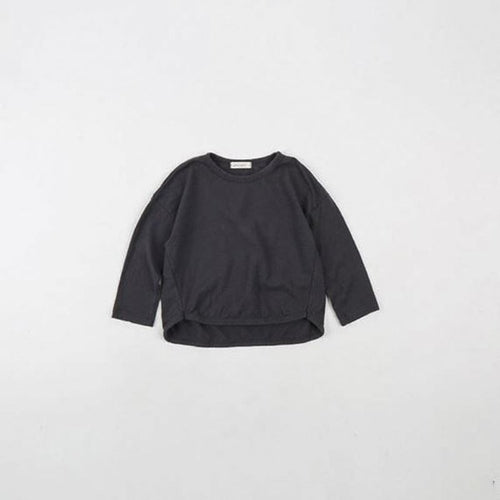 Slub Tee Charcoal Basics Chou La La Fashion Inc. 2T-3T