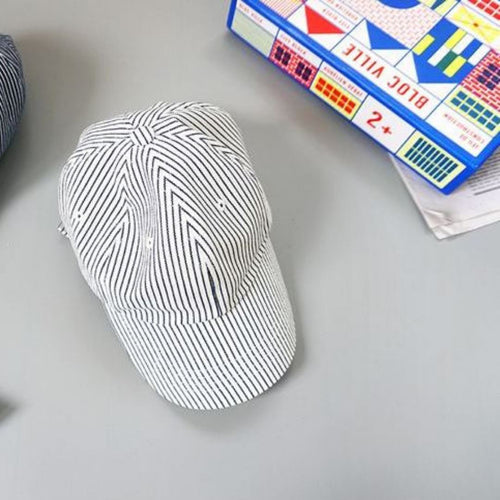 Subscription Boxes for Kids - Striped Black and White Ball Cap - Choulala Box