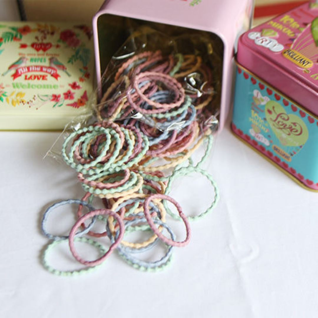 Subscription Boxes for Kids - Vintage Tin Box w/ Hair Elastics (set of 2) - Choulala Box