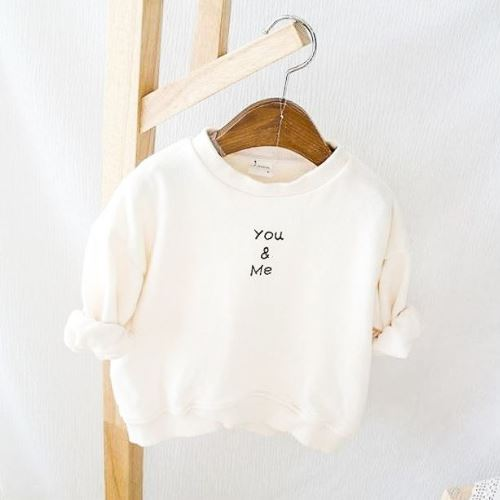 You & Me Ivory Sweatshirt Basics Chou La La Fashion Inc.