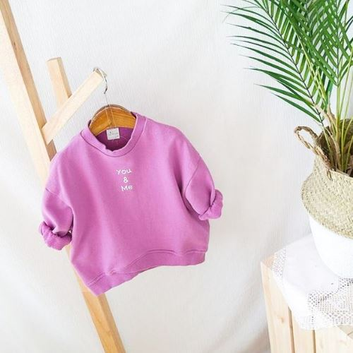 You & Me Lilac Sweatshirt Basics Chou La La Fashion Inc.