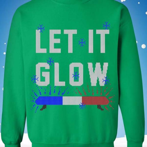 Let It Glow Christmas Sweatshirt