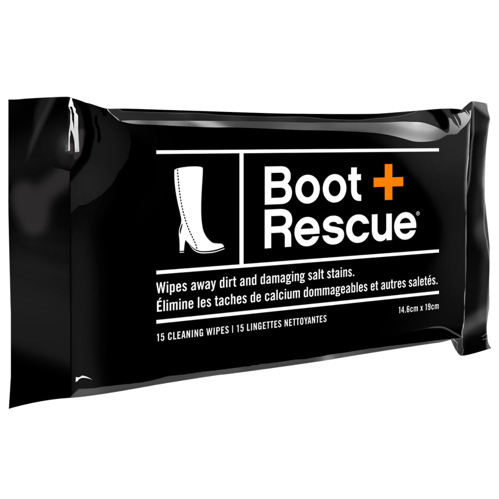 BootRescue All-Natural Shoe Cleaning Wipes, 15 Pack