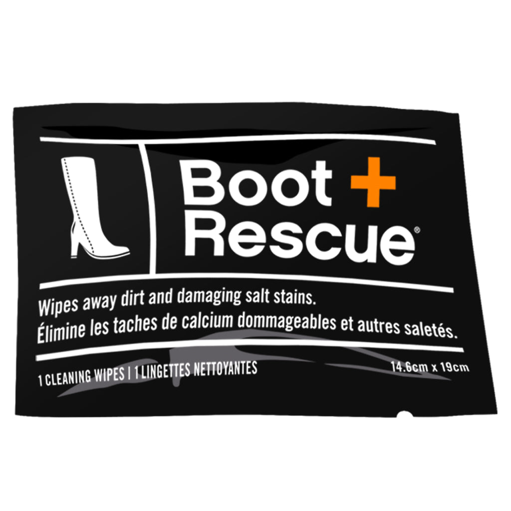 BootRescue All-Natural Shoe Cleaning Wipes - Box of 10 Individually Wrapped Wipes