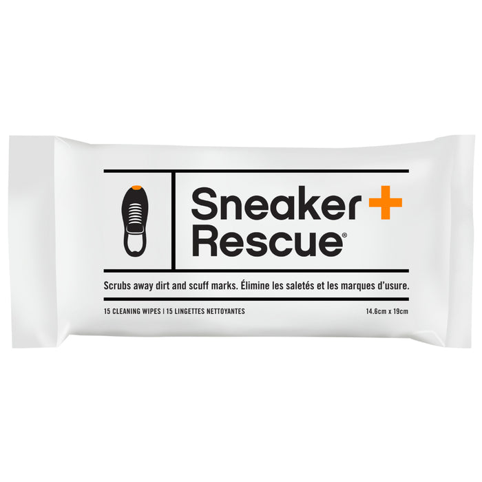 SneakerRescue All-Natural Sneaker Cleaning Wipes - Resealable Pack of 15