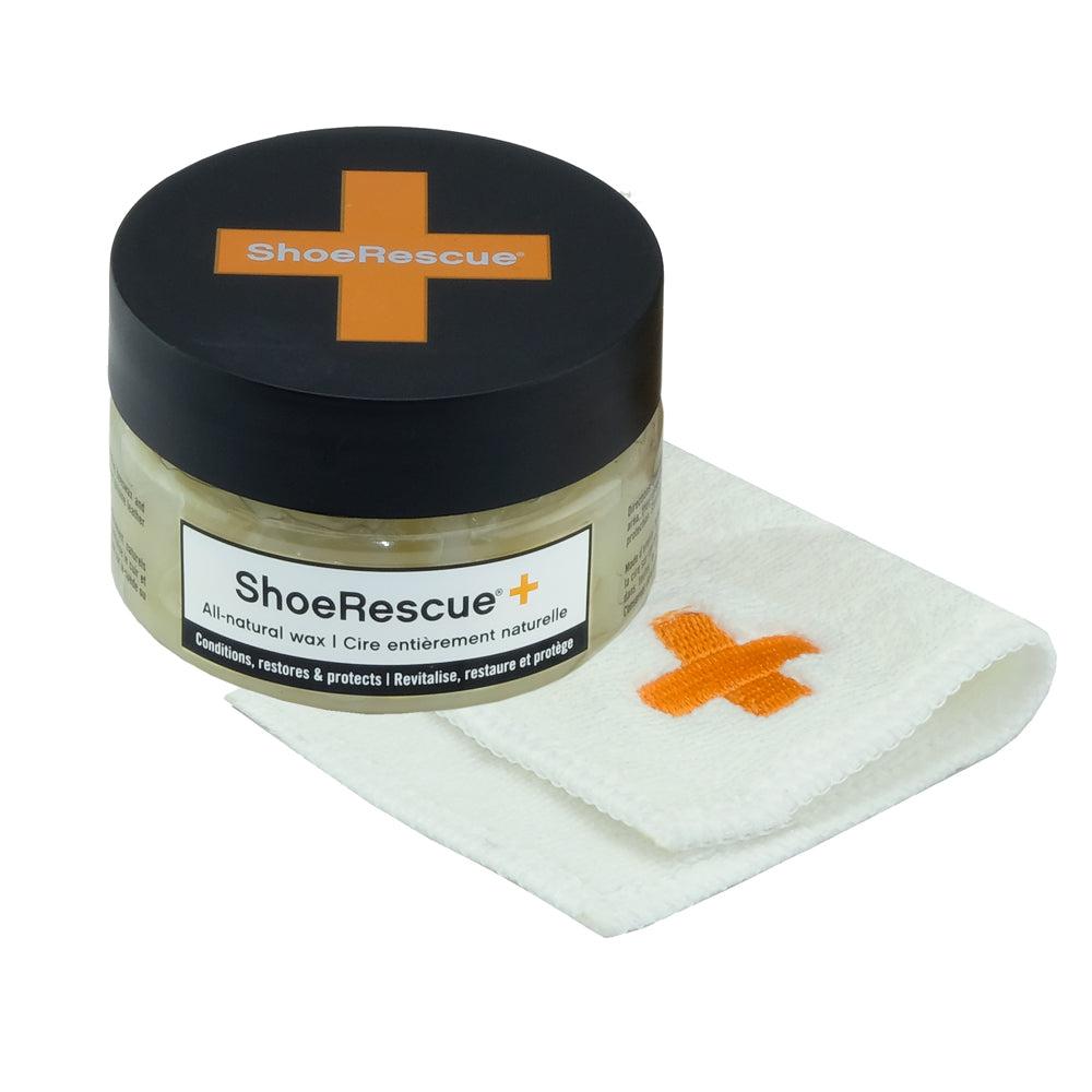 ShoeRescue All-Natural Shoe Wax with Cloth