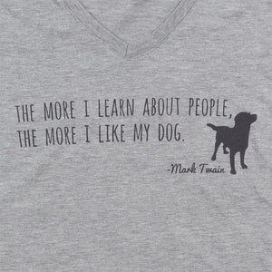 Mark Twain Like My Dog Tee Cinder Salt Beautifully Unique