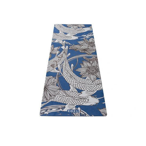 Blue flower colorful yoga mat