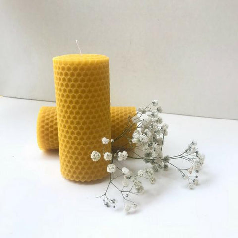 2 pieces beeswax candles