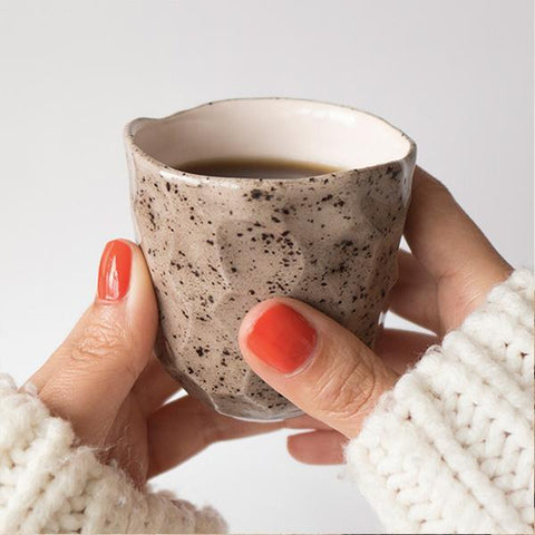 Sand Hand Carved Ceramic Cup