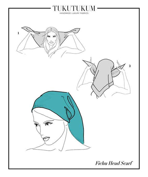 How to tie Scarf to make Fichu Head Scarf